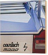 1982 Lamborghini Countach 5000s Taillight Emblem -0453c Wood Print