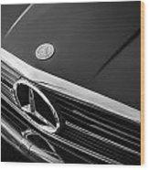 1984 Mercedes 500 Sl Convertible Bw Wood Print