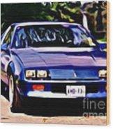1985 Chev Camero Wood Print