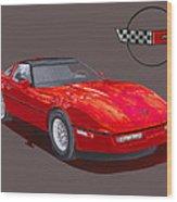 1986 Corvette Wood Print