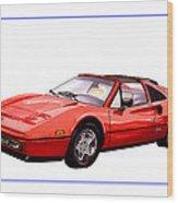Ferrari 328 G T S 1986 Wood Print