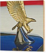 1986 Zimmer Golden Spirit Hood Ornament Wood Print by Jill Reger