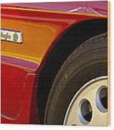 1988 Alfa Romeo Spider Quad Emblem Wood Print by Jill Reger