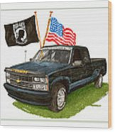 1988 Chevrolet M I A Tribute Wood Print by Jack Pumphrey