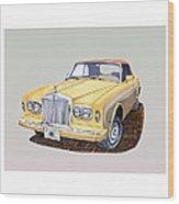 1988 Rolls  Royce's Corniche Convertible  Wood Print