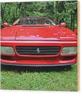 1993 Red Ferrari 512 Tr Wood Print