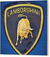 1995 Lamborghini Diablo Emblem Wood Print