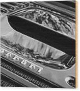 1997 Ferrari F 355 Spider Rear Emblem -117bw Wood Print