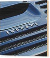 1997 Ferrari F 355 Spider Rear Emblem -153c Wood Print