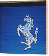 1997 Ferrari F 355 Spider Taillight Emblem -135c Wood Print