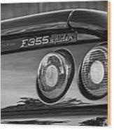 1997 Ferrari F 355 Spider Taillight Emblem -221bw Wood Print