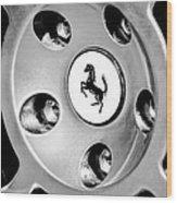 1997 Ferrari F 355 Spider Wheel Emblem -201bw Wood Print