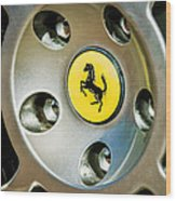 1997 Ferrari F 355 Spider Wheel Emblem -201c Wood Print