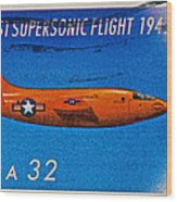 1997 First Supersonic Flight Stamp Wood Print