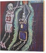 1997 Kobe Vs Jordan Wood Print