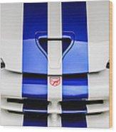 1998 Dodge Viper Gts-r Grille Emblem -0329c Wood Print