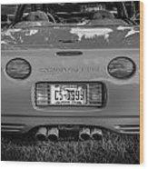 1999 Chevrolet Corvette Bw  Wood Print