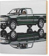 1999 Chevy Silverado Truck Wood Print