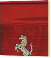 1999 Ferrari 550 Maranello Emblem -651c Wood Print