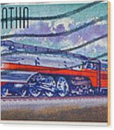 1999 Hiawatha Train Stamp Wood Print