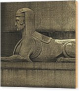 19th Century Granite Stone Sphinx Sepia Profile Poster Look Usa Wood Print