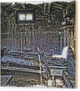 19th Century Miner's Cabin - Montana Wood Print