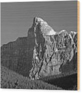 1m3621-bw-v-outlier Of Mt. Murchison Wood Print