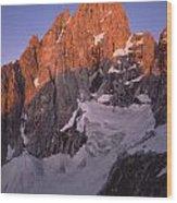1m9380-sunrise On The North Face Of Grand Teton Wood Print