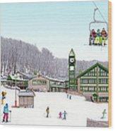 1st Snow At Hidden Valley Wood Print