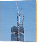 1wtc Antenna Erection Wood Print