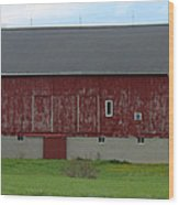 Large Red Barn Wood Print