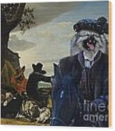 Keeshond Art Canvas Print Wood Print