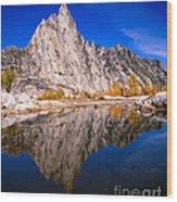 Prusik Peak On Gnome Tarn Wood Print