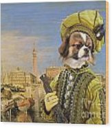 Tibetan Spaniel Art Canvas Print Wood Print