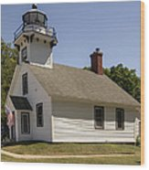1870 Mission Point Lighthouse Wood Print