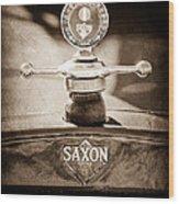 1915 Saxon Roadster Hood Ornament Wood Print