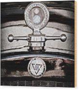 1928 Dodge Brothers Hood Ornament - Moto Meter Wood Print