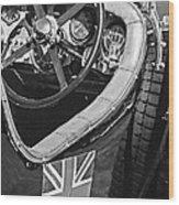 1931 Bentley 4.5 Liter Supercharged Le Mans Steering Wheel -1255bw Wood Print