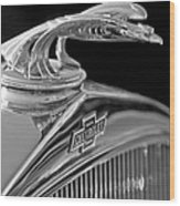 1931 Chevrolet Hood Ornament Wood Print