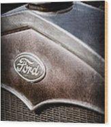 1931 Ford Grille Emblem Wood Print