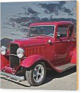 1932 Ford '5 Window' Coupe Wood Print