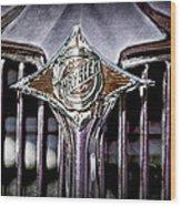 1933 Chrysler Sedan Grille Emblem Wood Print