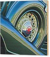 1933 Pontiac Spare Tire -0431c Wood Print