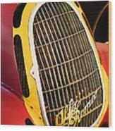 1935 Alfa Romeo 8c-35 Grille Emblem -0006c Wood Print