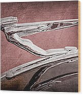 1936 Auburn Speedster Replica Hood Ornament Wood Print