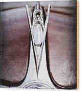 1936 Ford Phaeton V8 Hood Ornament - Emblem Wood Print