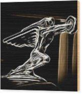 1936 Packard Hood Ornament Wood Print