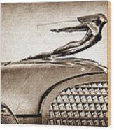 1937 Cadillac V8 Hood Ornament Wood Print