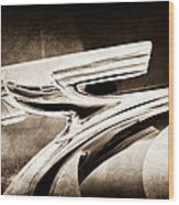 1937 Chevrolet 2 Door Sedan Hood Ornament Wood Print