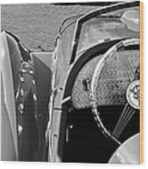 1937 Peugeot 402 Darl'mat Legere Speacial Sport Roadster Recreation Steering Wheel Emblem Wood Print
